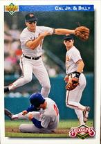 MLBカード 92UPPERDECK Cal JR & Blly #082 ORIOLES