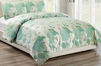 【 SALE 30%OFF 】Shell Comforter(布団) Set -USAbrand-Green