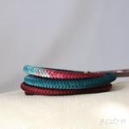 【Y様ご予約品】正絹 丸組の帯締め 深蘇芳に深藍