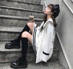 セットアップ ジャケット スカート セーラー服風 レディース 韓国系 原宿系【tb-512】