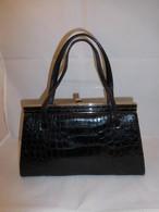 クロコのビィンテージバック black crocodile vintage bag (made in Japan)
