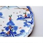 【 吉祥皿 - sansui - 】和食器 / 花皿 / 陶器 / プレート / うつわ / antique / vintage / japan