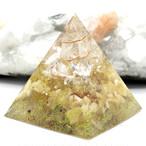 ピラミッド型Ⅱ オルゴナイト シトリン&アラゴナイト&ルチルクォーツ