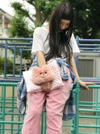 きらきらクリスピークラッチバッグ ピンク