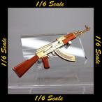 【01568】 1/6 ゴールド 金 AK47 ライフル ギャング