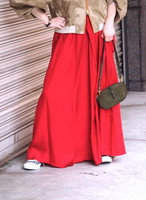 cupro shirring skirt(plain)