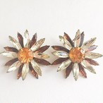 """Judy Lee"" rhinestone flower earring[e-871]"