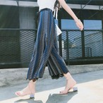 【新作10%off】stich gaze wide leg pants 2673