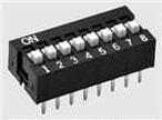 A6E-8104-N DIP スイッチ/SIP スイッチ Raised actuator 8 poles