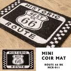 【MINIコイヤーマット】ROUTE 66 BK