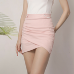 Stripe Shirring Skirts(Pink)