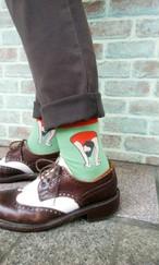 レオタードガールソックス/Odd socks series 'Leotard socks'