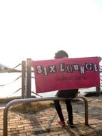 SIX LOUNGE ロゴ(ピンク)バスタオル