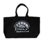 YOUNGER GENERATION Zip Tote Bag -Night & Day-<BLACK×GREY> / Limited 20