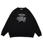 PORK FRONT STITCH SWEAT/BLACK