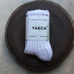 YAECA / ヤエカ COTTON/SILK SOCKS WHITE