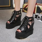【shoes】ハイヒール無地ファッションサンダル21092601