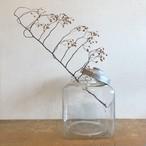 アルミ蓋付き角型ガラス瓶