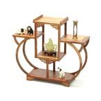 飾り棚 唐木 花梨木 茶棚 和棚 ディスプレイ コレクション 珍品棚 茶杯 和室 茶室 茶道具 和モダン ラック