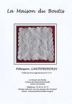 La Maison du Boutis メゾン・デュ・ブティのキット(型紙と説明書のみ)Pétasson CANTEPRERDRIX