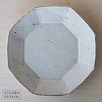 [加藤 祥孝]8寸  八角皿 /粉引
