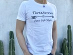 ThreeArrowsロゴ Tシャツ(white)