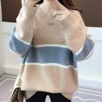 【tops】配色ファッション合わせやすいセーター23807915