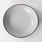 【SL-0107】磁器 22.5cm 深皿 グレー×ブラウン