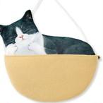 ハチワレ猫のウォールポケット/浜松雑貨屋 C0pernicus