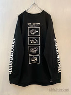 【CHIC HERO】x 空亜コラボ20 LONG-SLEEVE T/S BLACK