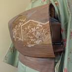 正絹紗 古代紫の袋帯