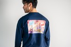 """ITOSIHMA STORE """"Sunset"""" L/S TEE(navy)"""