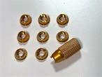 NEWナット★プロポスイッチトグルナット アルミCNCカット面加工有り 厚4個&薄4個、計8個セット 、カラー/ゴールド