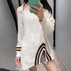 予約注文商品 アルワンオープンシャツカラーニット ニット セーター 韓国ファッション