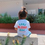 ★Kids★ ALOHA RISE Tee - White / Green-Red