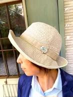 CHIKYU   ちきゅう   ミツバチの巣刺繍つば広ハット