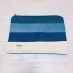 【5/30販売】Denim clutch (White sweat) S109