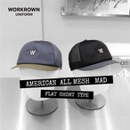 WORKCAP AMERICAN ALL MESH  MAD FLAT & CYCLE