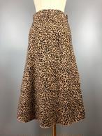 レオパードニットスカート レオパードスカート ロングスカート 韓国ファッション