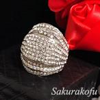 SALE☆半額 送料無料 D009 レディース 指輪 キュービックジルコニア ゴージャスパヴェリング