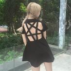 back open charade dress 1980