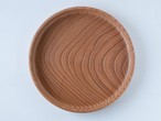 【一点限り】古民家材の欅の丸盆  赤味