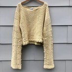 Bell Sleeve Hand Knit Sweater