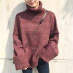 【tops】定番ニットセーターはいメック無地合わせやすい