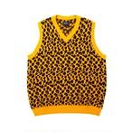 Cheetah Lambswool Sweater Vest(Yellow)