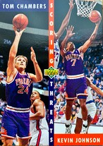 NBAカード 92-93UPPERDECK Tom Chambers/Kevin Johnson #64 SUNS