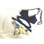 ✨予約受付中✨‼️再入荷予定‼️【送料無料◇即納】Bikini♡フラワーボトムクロスビキニ ブラック