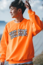THREEARROWS College LOGO SWEAT(orange)