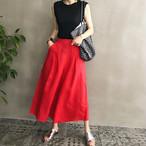 【盛夏に映える★鮮やかカラーパンツ】フレアスカート風スカーチョ ガウチョパンツ ワイドパンツ 3カラー