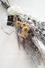 プリザーブド スワッグ ブーケ(アンティークグレー)60㎝ フラワーギフト ウェディングギフト  結婚祝い 記念日 お祝い
